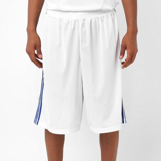 848d9c8e8f Bermuda Adidas Commander - Branco e Azul - Compre Agora