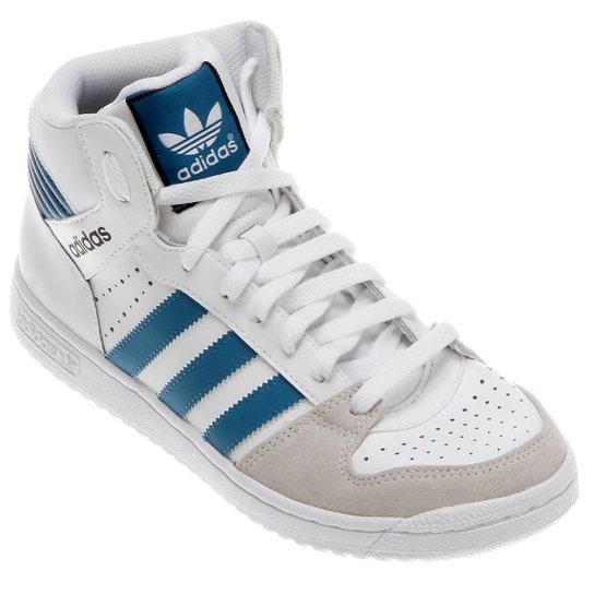 4689379ae1 Tênis Adidas Pro Play 2 - Branco+Azul Petróleo