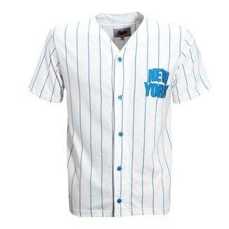Camisa Liga Retrô New York Baseball 4d8637ad664be
