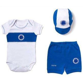 cda003ca95 Kit Body Shorts Boné Liso Suedine Unissex Cruzeiro Reve Dor - M