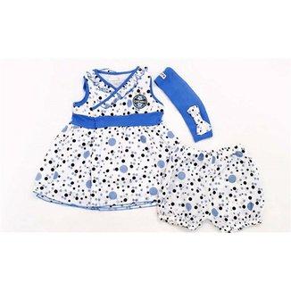 Vestido Bolinhas Com Calcinha E Tiara Voil Menina Grêmio Reve Dor - 3 Anos e8860e9ebcb3f