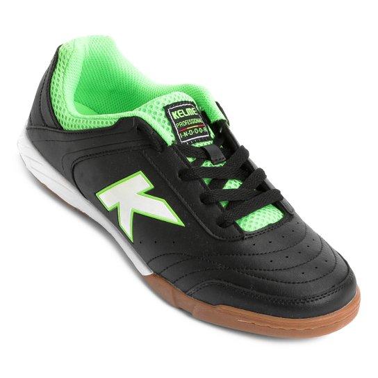 d7af2fe4d82 Chuteira Futsal Kelme Precision Trn - Preto e verde - Compre Agora ...