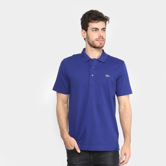 Camisa Polo Lacoste Super Light Masculina - Branco e Azul - Compre ... 8d36852b54