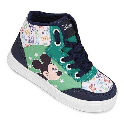 Tênis Infantil Cano Alto Disney Mickey Masculino
