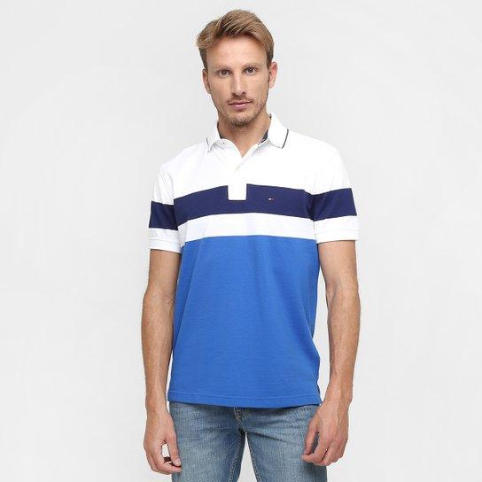 Camisa Polo Tommy Hilfiger Piquet Listrada - Compre Agora  929259adbffbb
