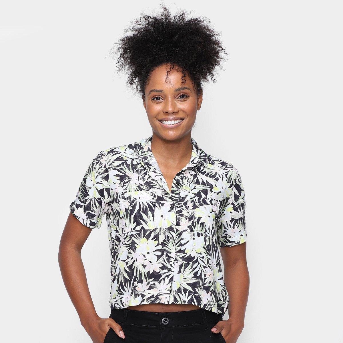 Camisa Volcom Floral Going Off Feminina