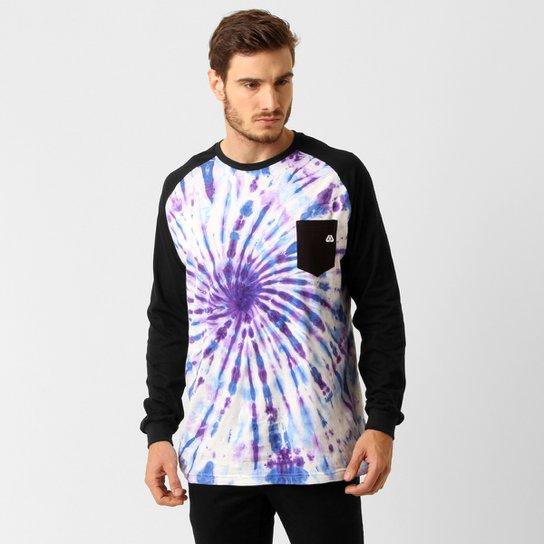 fd3fb74b0 Camiseta Live Skateboard Tie Dye M/L - Branco+Roxo