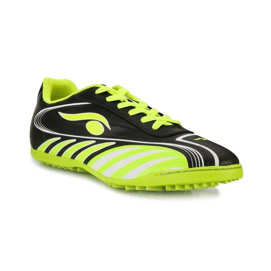 c55d1e3b41 Tênis Futsal Dsix Juvenil DS18-6203 - Preto e verde - Compre Agora ...