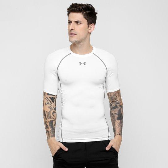 f3280ec0dd6 Camiseta de Compressão Under Armour Heatgear Masculina - Branco+Grafite