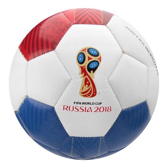 Bola Futebol Campo Rússia 2018 - Branco e Azul - Compre Agora  a336da777bdc8