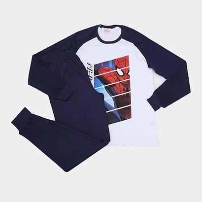Pijama Infantil Evanilda Spider Man Longo Tal Filho Masculino
