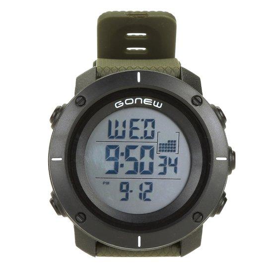78cf6bc6d Relógio Digital Gonew Masculino - Preto e verde - Compre Agora ...