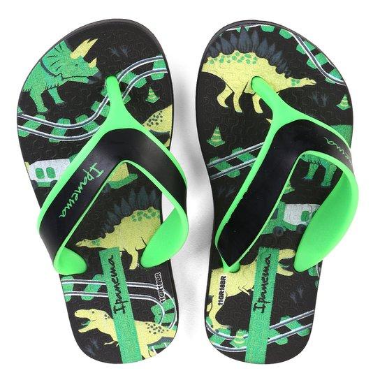 Chinelo Infantil Grendene Kids Dinossauro - Preto e verde - Compre ... 87a770dd0b826