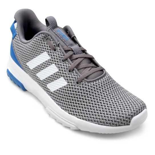 7a6ae2b6a7c Tênis Adidas Cf Racer Tr Masculino - Cinza e Azul - Compre Agora ...
