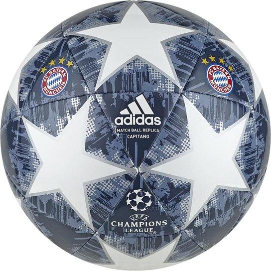 Bola de Futebol Campo Bayern de Munique Adidas Capitano Finale 18 UCL -  Branco+Azul 9e0d4267f5ad1