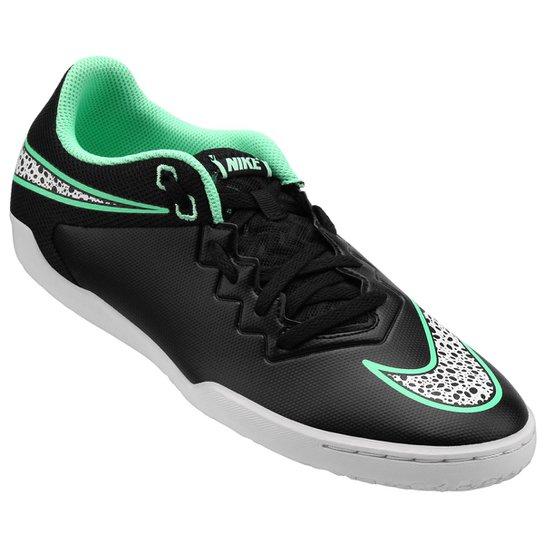 1798a63a2c8c6 Chuteira Futsal Nike Hypervenom Pro IC Masculina - Preto e verde