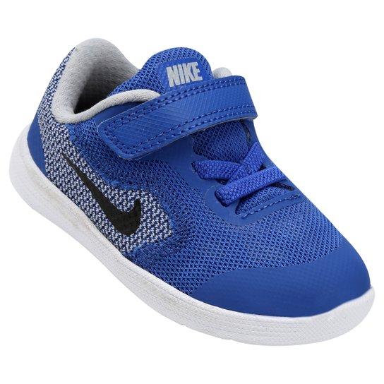 086df56703f Tênis Infantil Nike Revolution 3 - Azul Royal e Preto - Compre Agora ...