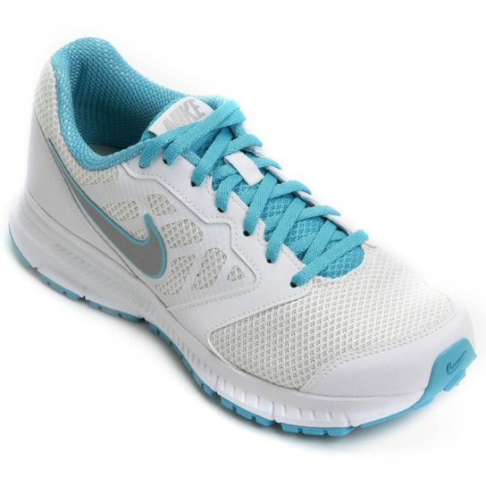 90eefe26dda Tênis Nike Downshifter 6 MSL Feminino - Branco+Azul Turquesa ...