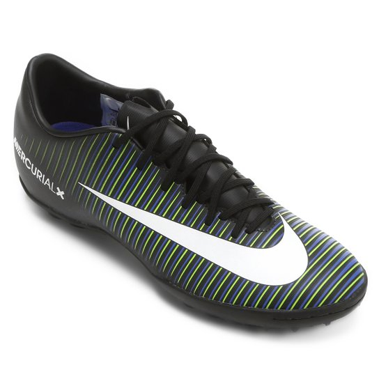 cc379dead3 Chuteira Society Nike Mercurial Victory 6 TF - Preto+verde
