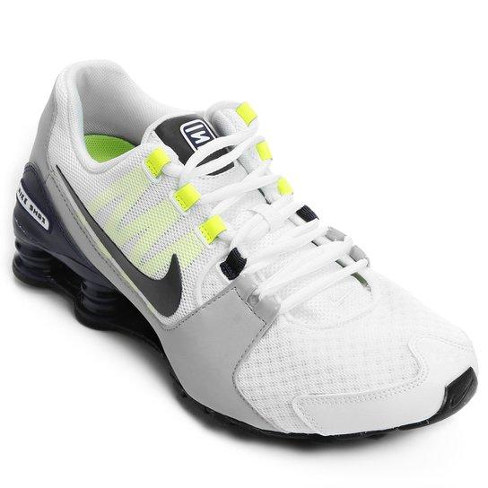 Tênis Nike Shox Avenue Masculino - Branco+Verde Limão e2ca869fac50e