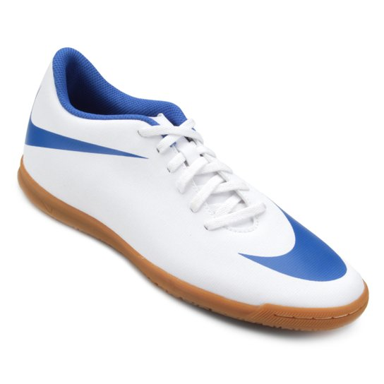Chuteira Futsal Nike Bravata 2 IC - Branco e Azul - Compre Agora ... bed1194667317