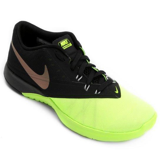 f9fefc865f Tênis Nike Fs Lite Trainer 4 Masculino - Preto+Verde Limão