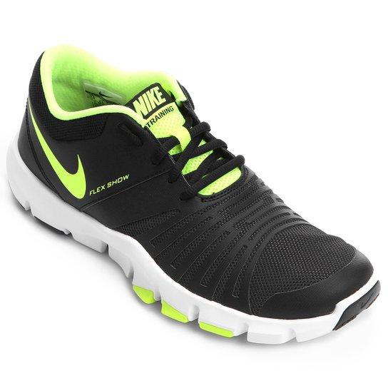 f03caf3475e Tênis Nike Flex Show Tr 5 Msl Masculino - Preto+Verde Limão