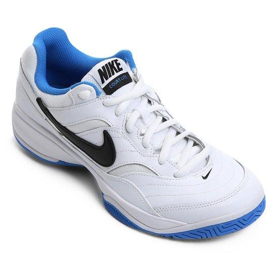 Tênis Nike Court Lite Masculino - Branco e Azul - Compre Agora ... c3b99a2dd9648