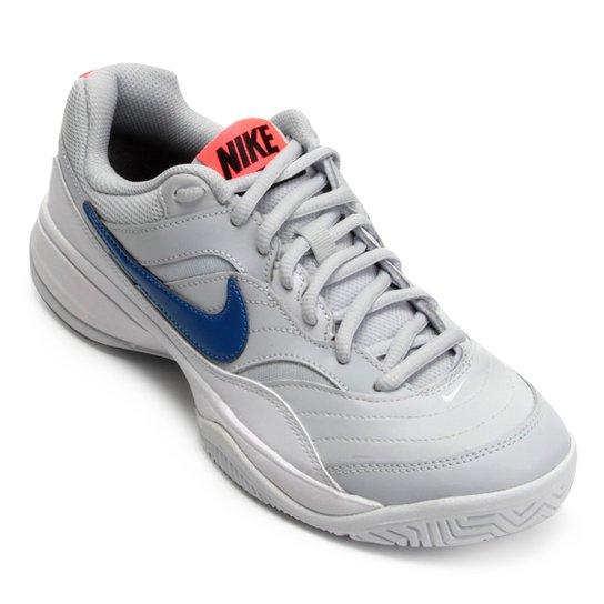 99bc0876c Tênis Nike Wmns Nike Court Lite Feminino - Cinza e Azul - Compre ...