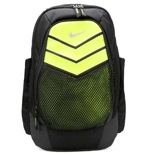 08e6f1e9f9b9d Mochila Nike Vapor Power Backpack Masculina - Preto+Verde Limão