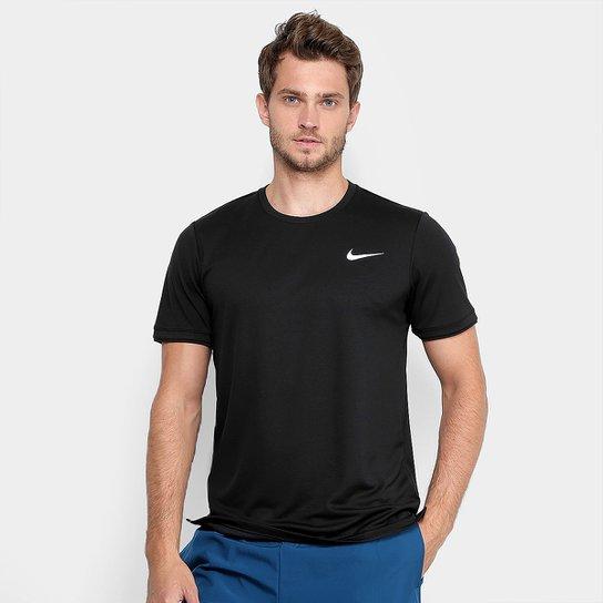 Camiseta Nike Top Team Masculina - Branco+Grafite 37b16cd589c4d