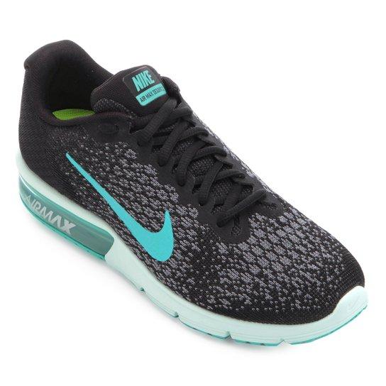 promo code 70e0c ad140 Tênis Nike Air Max Sequent 2 Feminino - Preto+Verde Água