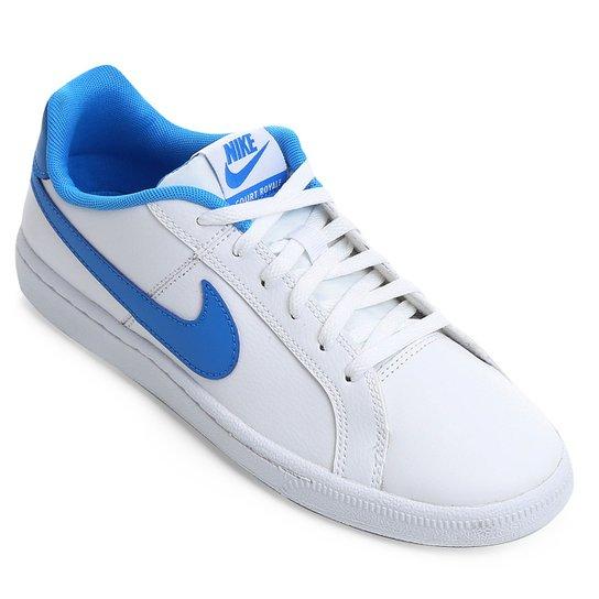 835da77e0c1 Tênis Infantil Couro Nike Court Royale Masculino - Branco e Azul ...
