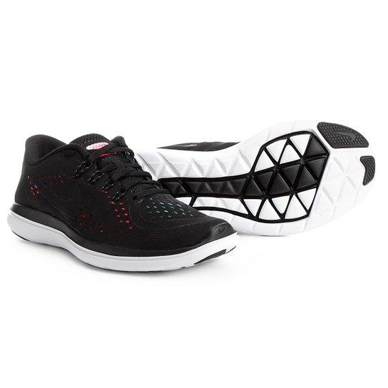 89463e8776f4c Tênis Nike Flex 2017 RN Feminino - Preto e Vermelho - Compre Agora ...