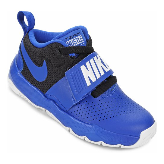 Tênis Infantil Nike Team Hustle D 8 Masculino - Azul Royal e Preto ... a113ac350839b