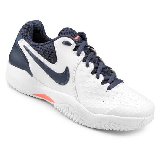 8c607c2133c04 Tênis Nike Air Zoom Couro Resistance Masculino - Branco e Azul ...