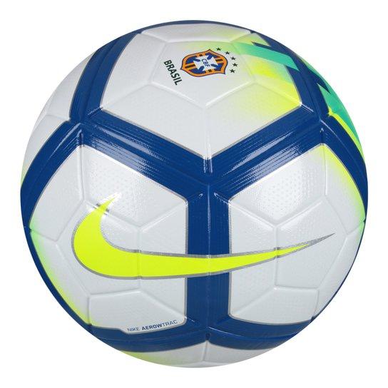 7b56f0094b1eb Bola Futebol Campo Nike CBF Ordem Campeonato Brasileiro 2018 - Branco+Azul