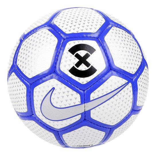 8805a3d5e8478 Bola Futsal Nike Premier X - Branco e Azul - Compre Agora