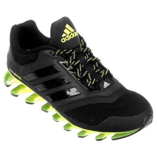 fb6241b5487 Tênis Adidas Springblade Drive 2 Masculino - Preto+Verde Limão