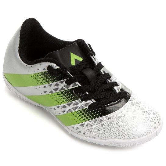 3efdf88d0d0d4 Chuteira Futsal Infantil Adidas Artilheira IN - Branco+Verde Limão