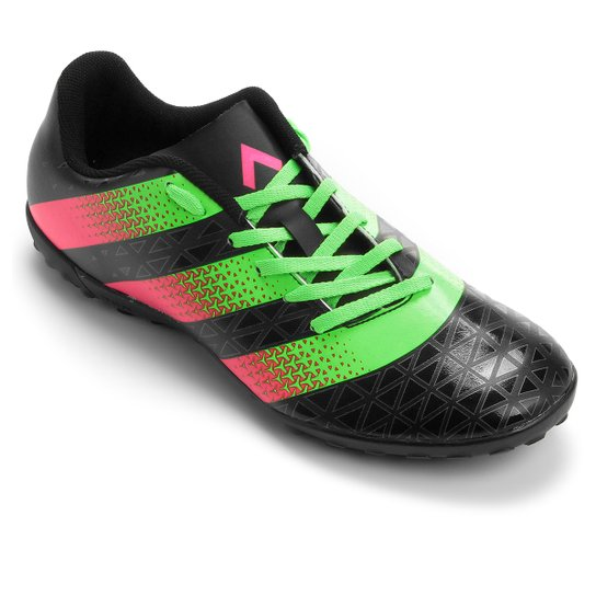 Chuteira Society Adidas Artilheira TF - Preto+Verde Limão 5b52f6767bee0
