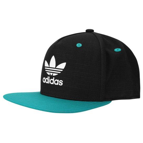 Boné Adidas Originals Fb Ac - Preto+Verde Água c1ccec4a4ff74