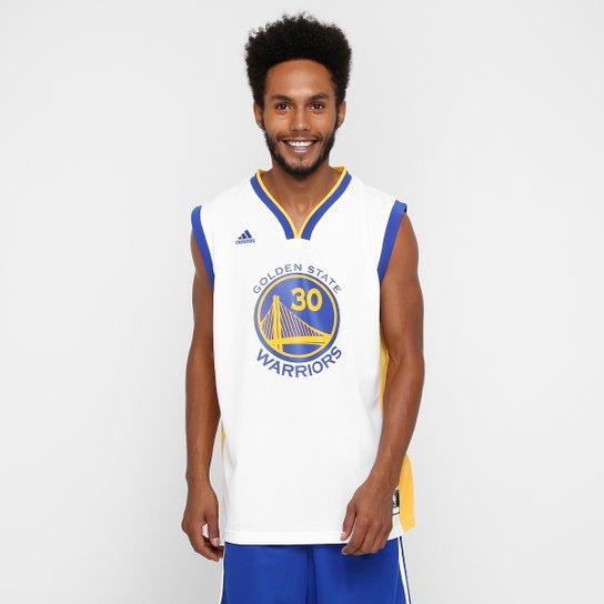 e903f645f Camiseta Regata Adidas NBA Golden State Warriors - Curry - Branco+Azul