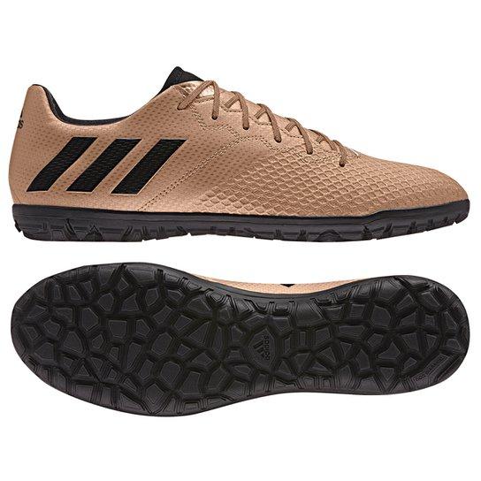 2c41fbdc93 Chuteira Society Adidas Messi 16.3 TF Masculina - Bronze e Preto ...