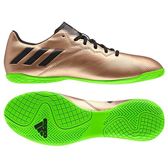 d8f169b957663 Chuteira Futsal Adidas Messi 16.4 IN Masculina - Preto e verde ...