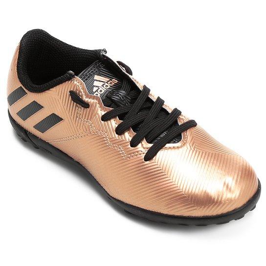 Chuteira Society Juvenil Adidas Messi 16.4 TF - Dourado e Preto ... 3fd6c79f0c138