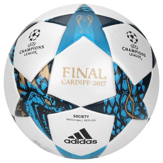 Bola Futebol Society Adidas Finale Cardiff UEFA 2017 Top - Branco+Azul  03d2d06d039128 ... 1e91831950f64