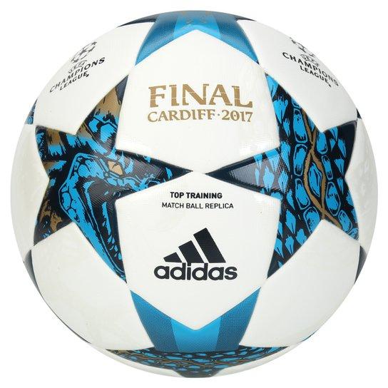 Bola Futebol Campo Adidas Finale Cardiff UEFA 2017 Top Training -  Branco+Azul 056216aebcd98