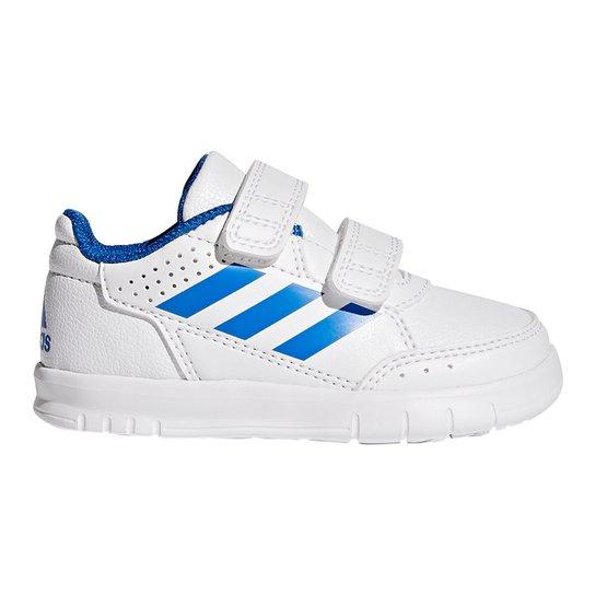 101f068d59 Tênis Infantil Adidas Altasport Cf Velcro - Branco e Azul - Compre ...