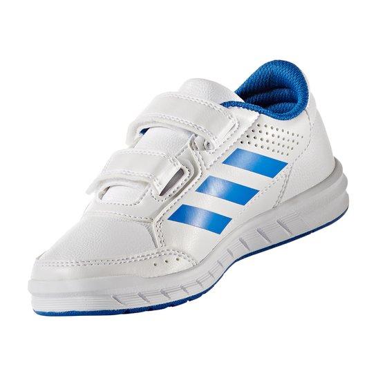 69121c6329 Tênis Infantil Adidas Altasport Cf K Velcro - Branco e Azul - Compre ...